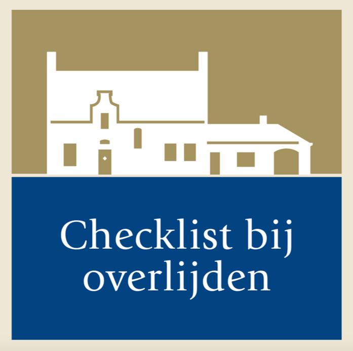 Checklist bij overlijden